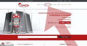 Stránka exohosting.sk